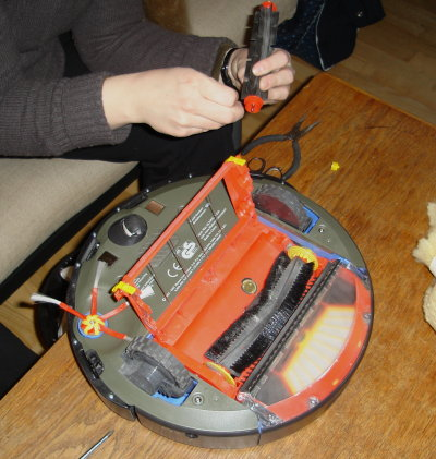 Roomba takes up a little of your time now and then, when it is time to clean it. Most of its joints can be disassembled, so hair and dust can be removed.